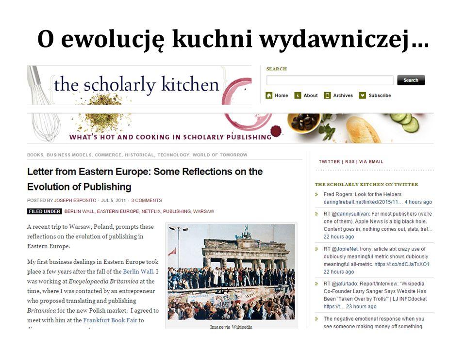 O ewolucję kuchni wydawniczej…