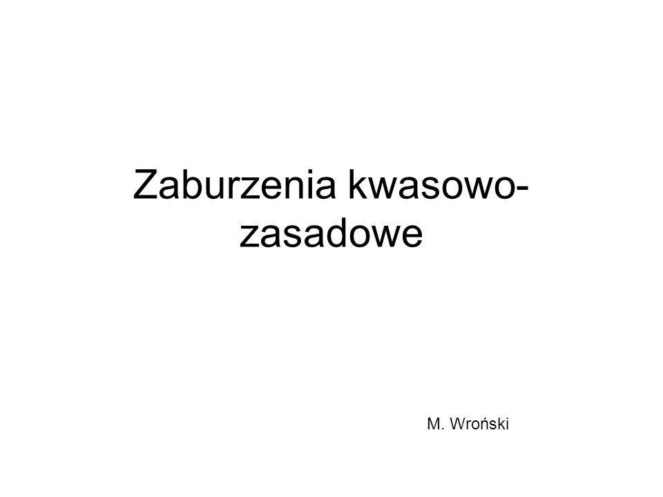 Zaburzenia kwasowo- zasadowe M. Wroński
