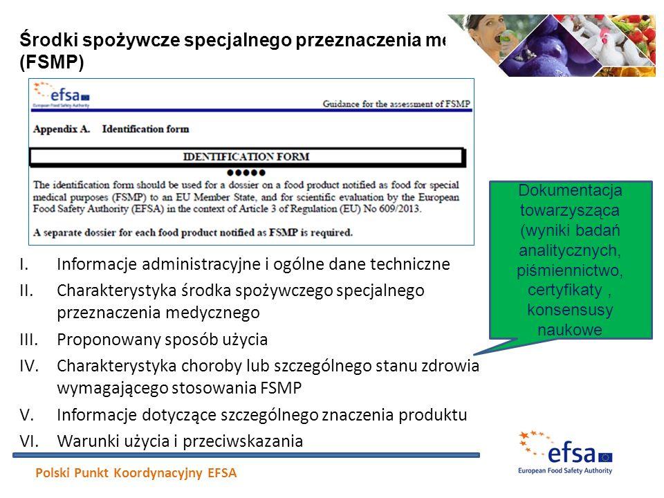 I.Informacje administracyjne i ogólne dane techniczne II.Charakterystyka środka spożywczego specjalnego przeznaczenia medycznego III.Proponowany sposó