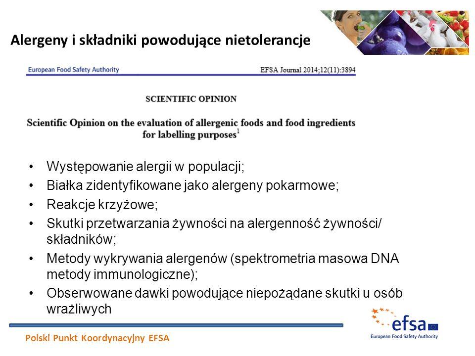 Występowanie alergii w populacji; Białka zidentyfikowane jako alergeny pokarmowe; Reakcje krzyżowe; Skutki przetwarzania żywności na alergenność żywno