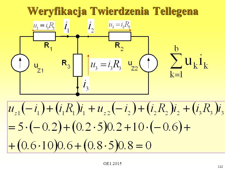 OE1 2015 122 Weryfikacja Twierdzenia Tellegena