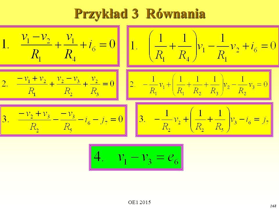 OE1 2015 168 Przykład 3 Równania