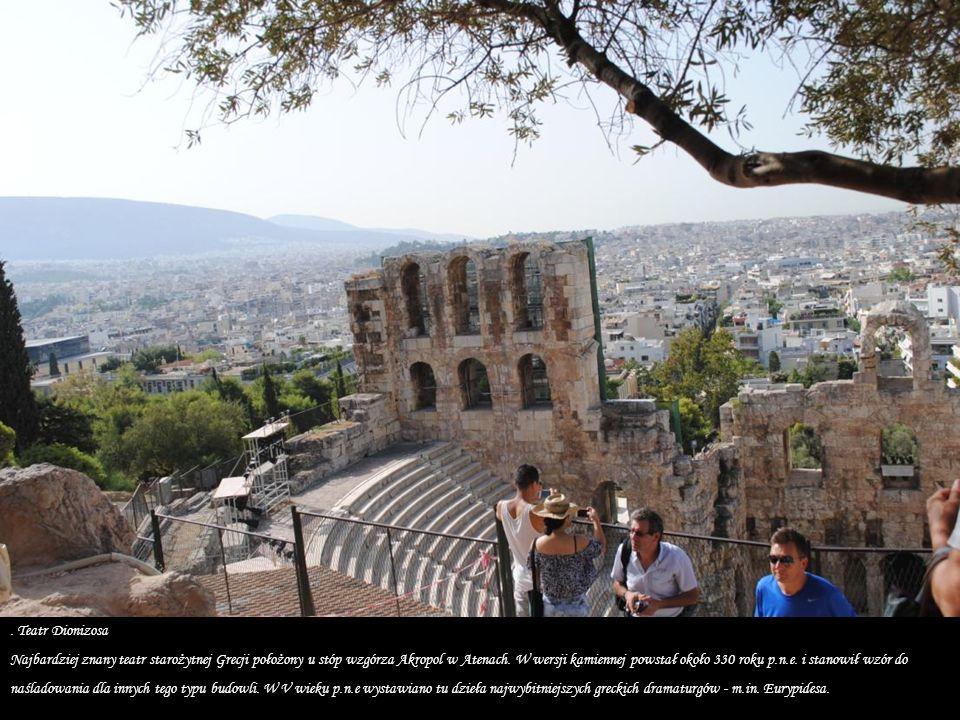Odeon Heroda Attyka, położony na zboczu Akropolu.