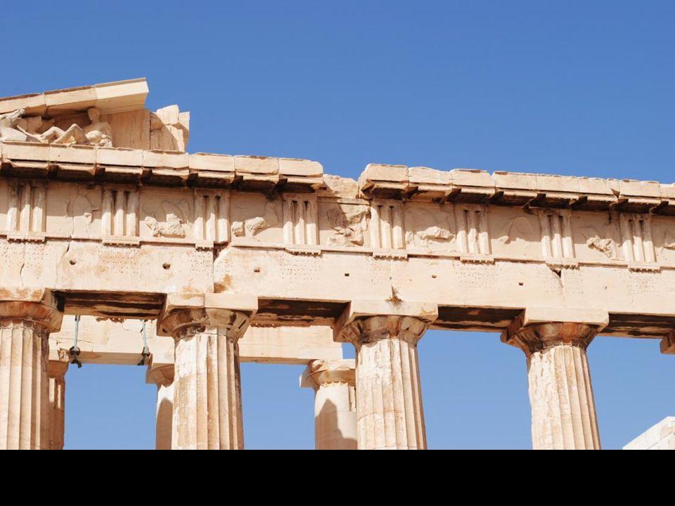 Partenon - największy budynek na Akropolu. Budowany w latach 447-432 p.n.e.
