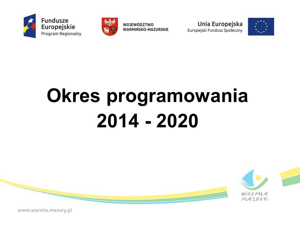 Okres programowania 2014 - 2020