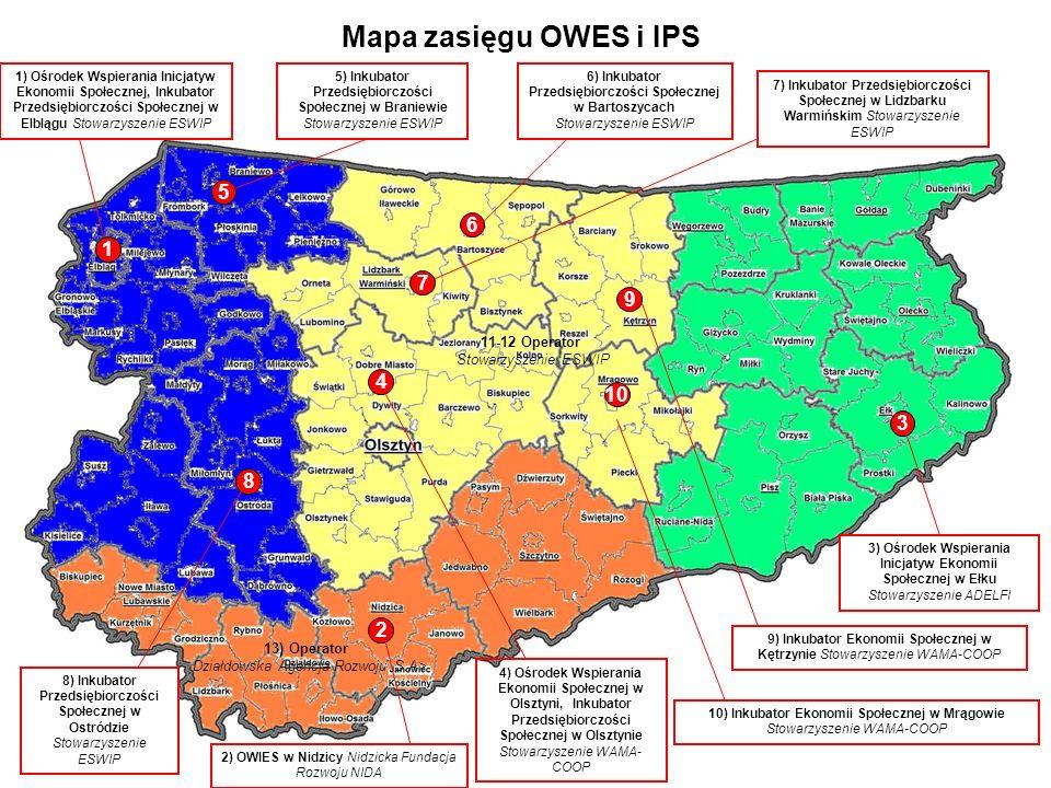 CEL GŁÓWNY WPRES: Zwiększenie udziału ekonomii społecznej w rozwoju społeczno-gospodarczym województwa warmińsko-mazurskiego ze szczególnym uwzględnieniem aktywizacji zawodowej i społecznej grup zagrożonych wykluczeniem