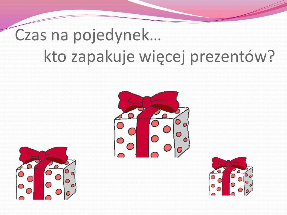 Czas na pojedynek… kto zapakuje więcej prezentów?