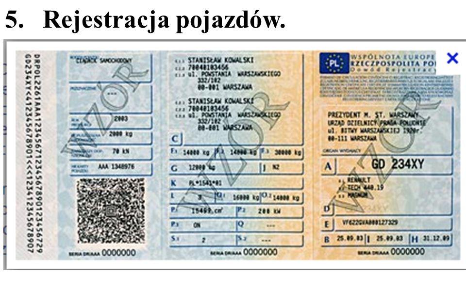 5.Rejestracja pojazdów.