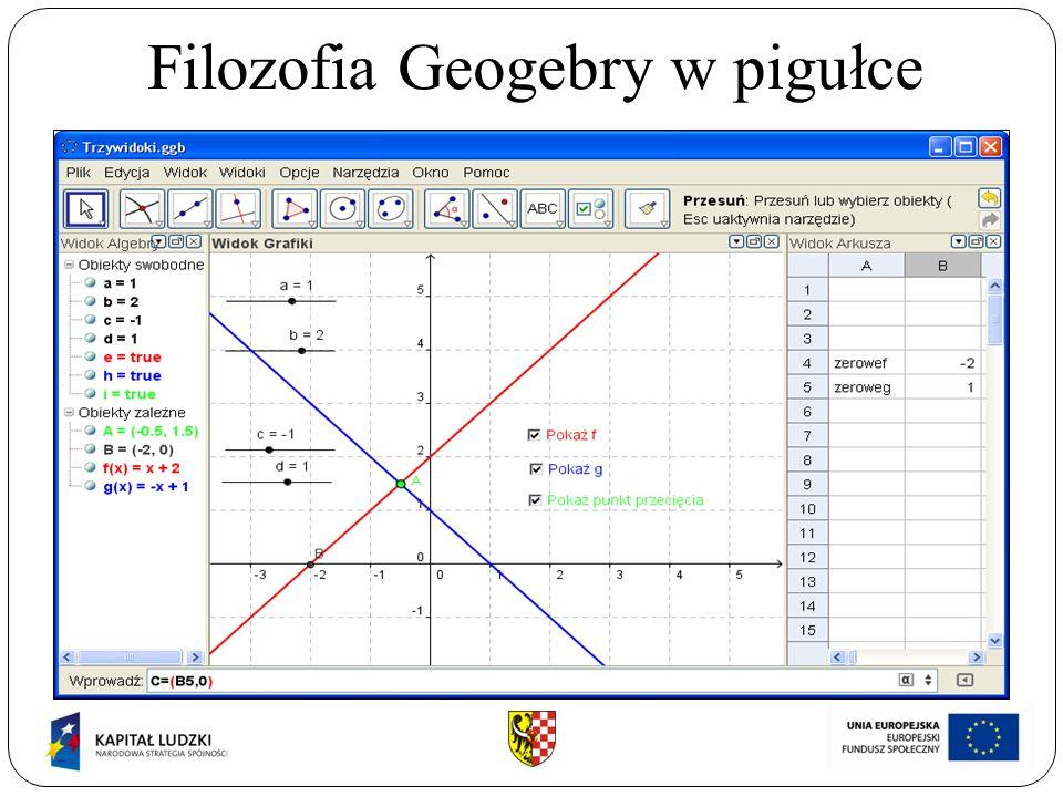 Filozofia Geogebry w pigułce ABCDEFGHIJKABCDEFGHIJK