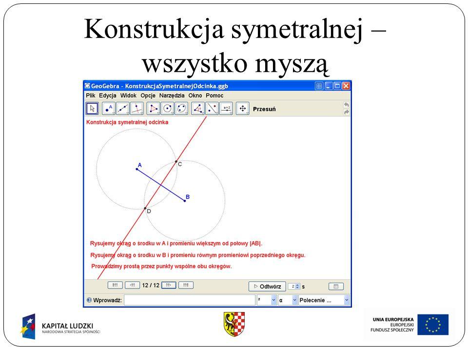 Konstrukcja symetralnej – wszystko myszą