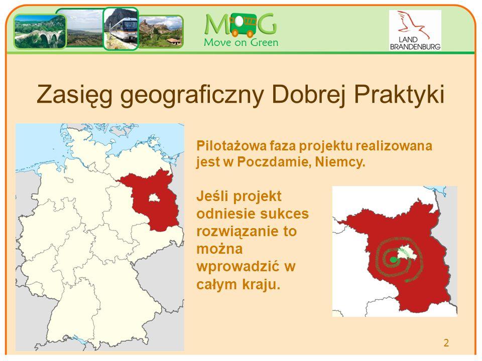 Zasięg geograficzny Dobrej Praktyki Pilotażowa faza projektu realizowana jest w Poczdamie, Niemcy.