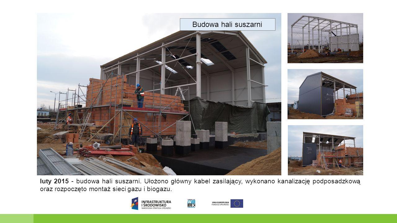 Budowa hali suszarni luty 2015 - budowa hali suszarni.