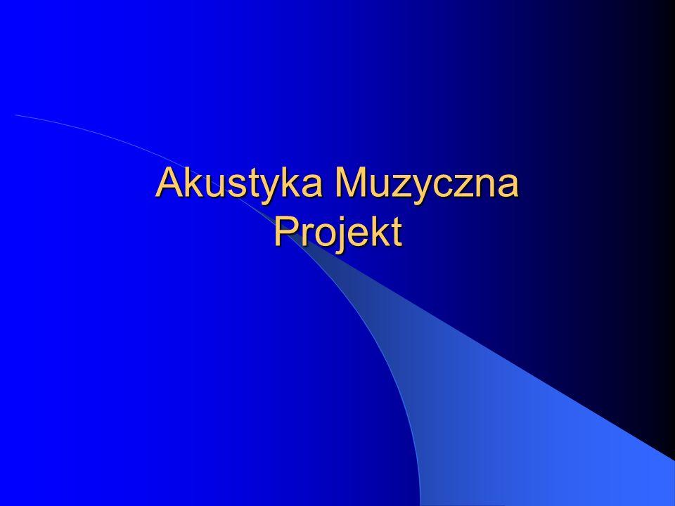 Akustyka Muzyczna Projekt
