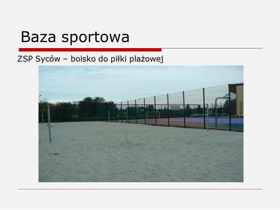 Baza sportowa ZSP Syców – boisko do piłki plażowej