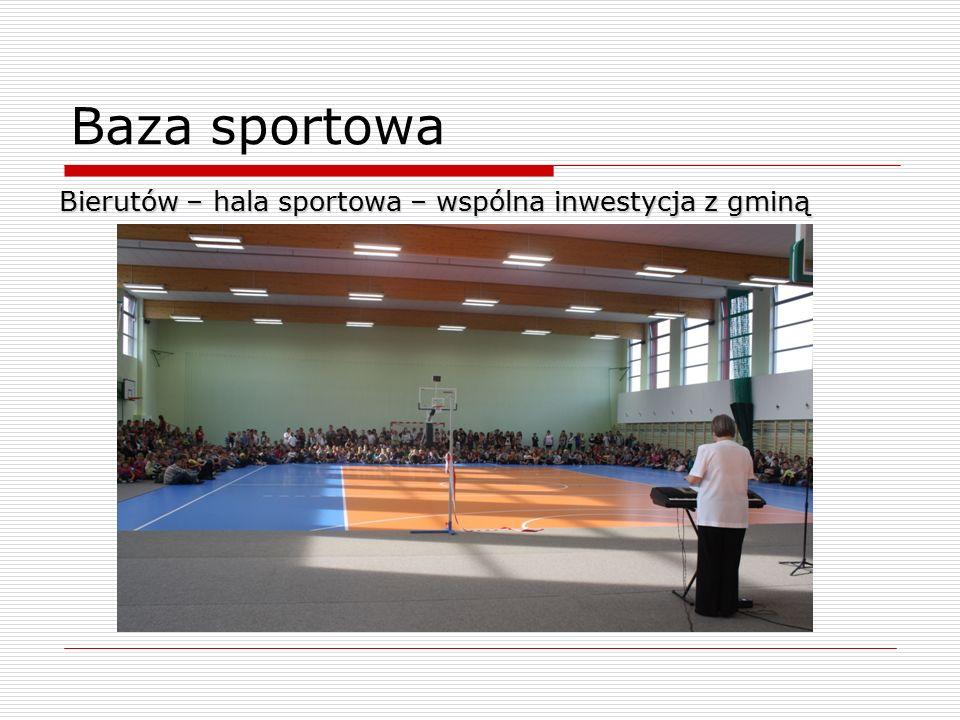 Baza sportowa Bierutów – hala sportowa – wspólna inwestycja z gminą