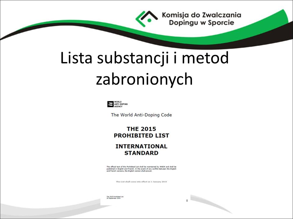 Lista substancji i metod zabronionych