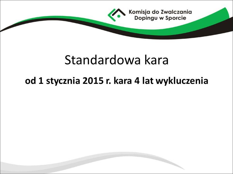 Standardowa kara od 1 stycznia 2015 r. kara 4 lat wykluczenia