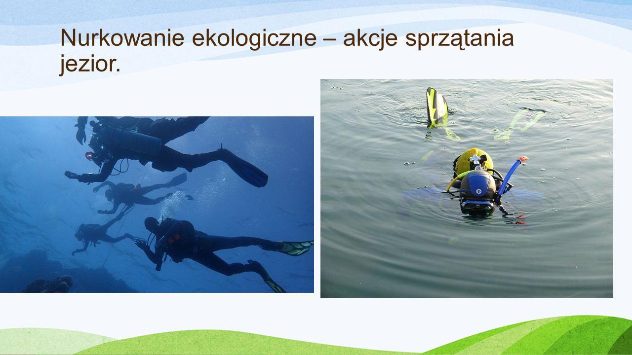 Nurkowanie ekologiczne – akcje sprzątania jezior.
