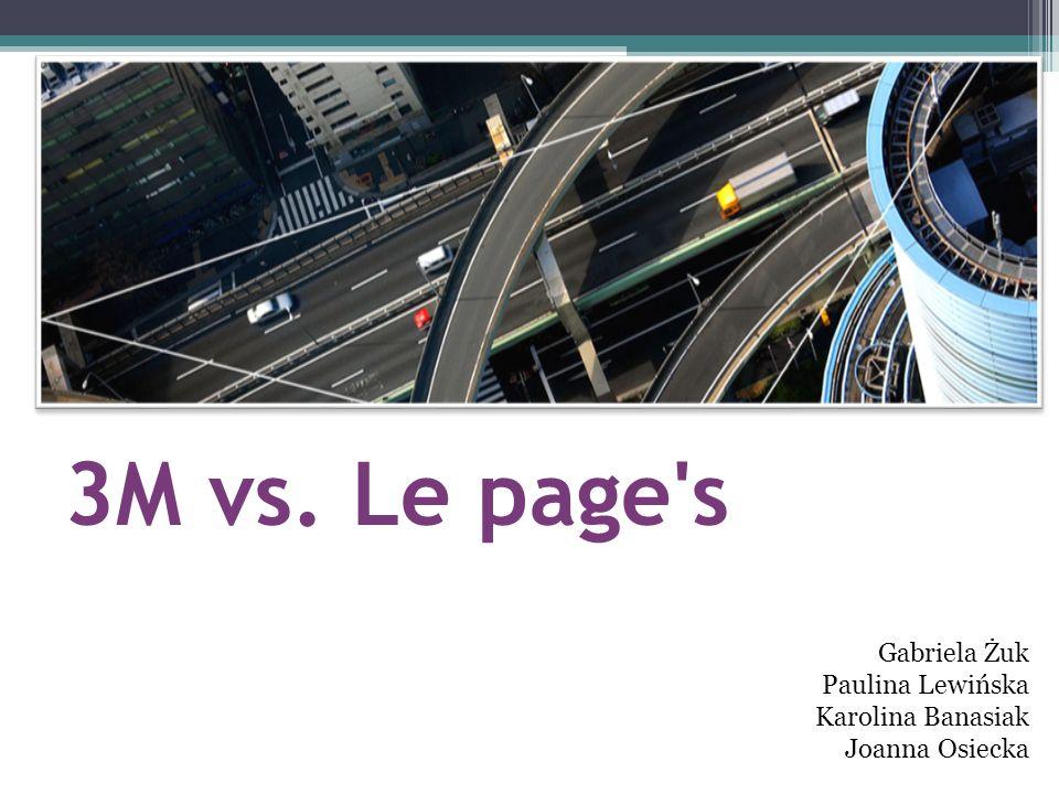 3M vs. Le page s Gabriela Żuk Paulina Lewińska Karolina Banasiak Joanna Osiecka