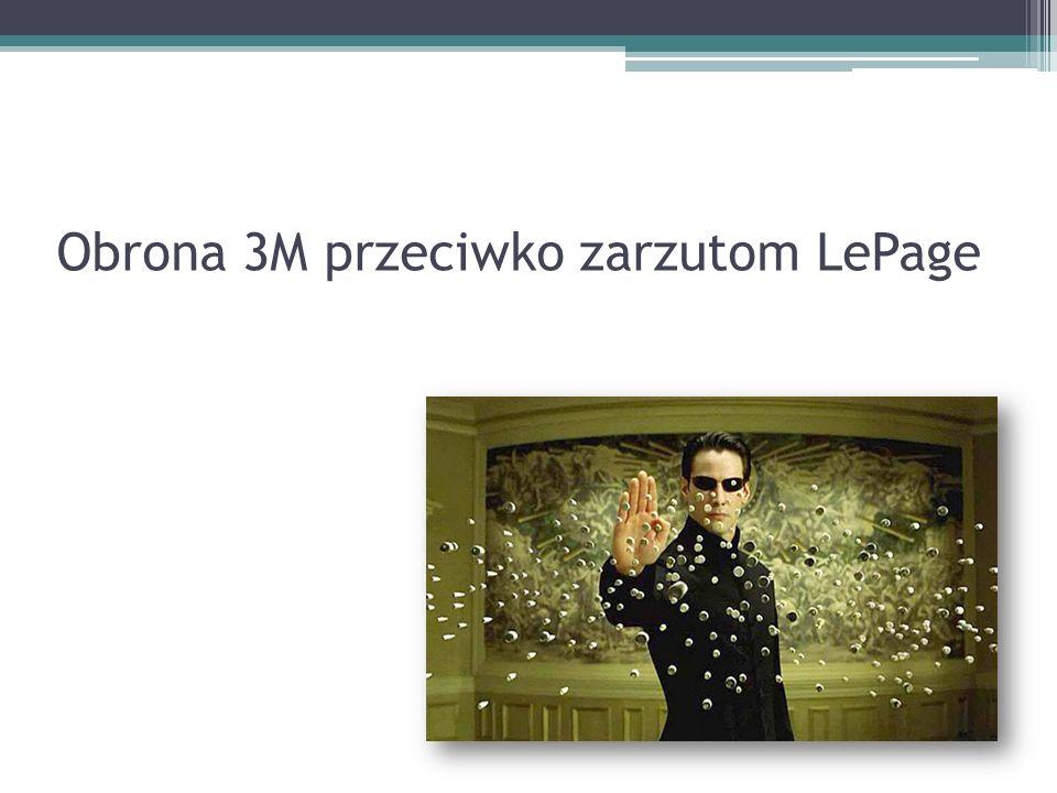 Obrona 3M przeciwko zarzutom LePage