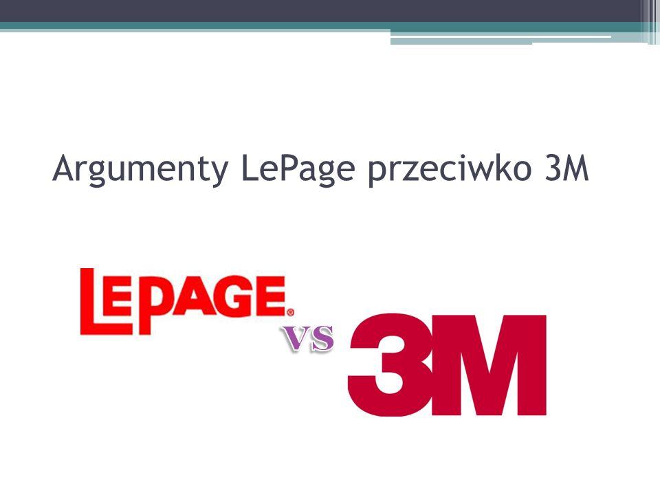 Argumenty LePage przeciwko 3M