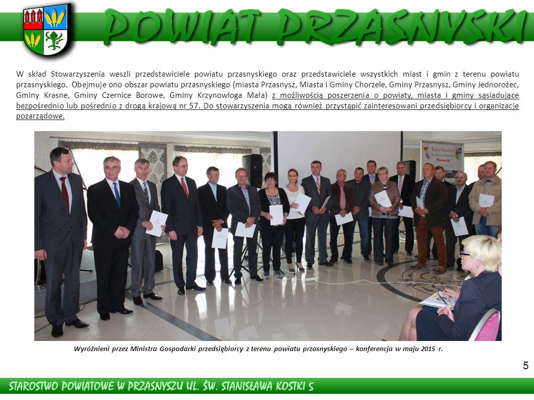 5 W skład Stowarzyszenia weszli przedstawiciele powiatu przasnyskiego oraz przedstawiciele wszystkich miast i gmin z terenu powiatu przasnyskiego.