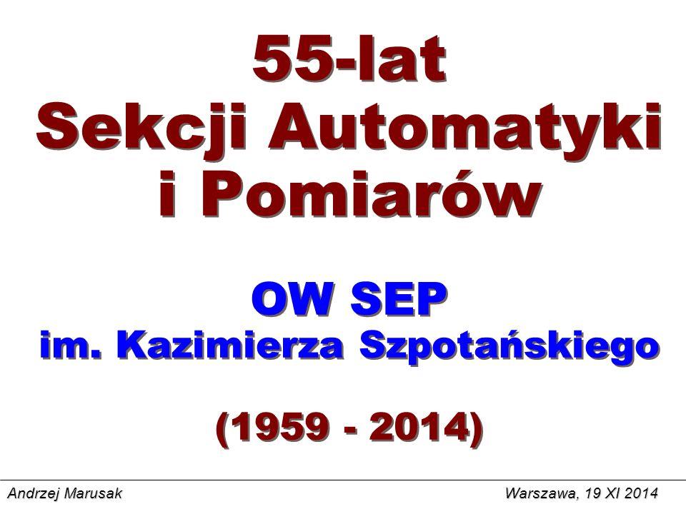 55-lat Sekcji Automatyki i Pomiarów OW SEP im.