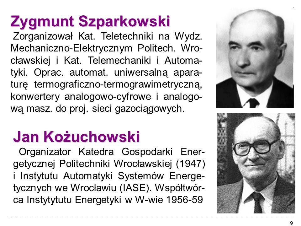 Zygmunt Szparkowski Zorganizował Kat. Teletechniki na Wydz.