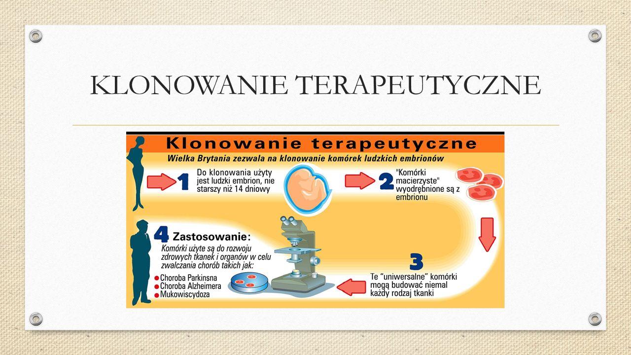 KLONOWANIE KOMÓRKOWE Podział komórek w laboratorium, które służą otrzymaniu zespołu komórek tego samego rodzaju dla celów badawczych.