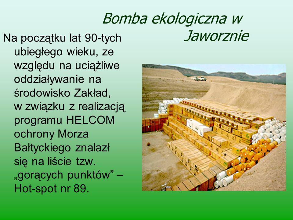 Bomba ekologiczna w Jaworznie Na początku lat 90-tych ubiegłego wieku, ze względu na uciążliwe oddziaływanie na środowisko Zakład, w związku z realiza