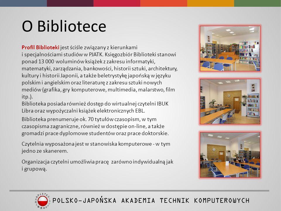 O Bibliotece Profil Biblioteki jest ściśle związany z kierunkami i specjalnościami studiów w PJATK.