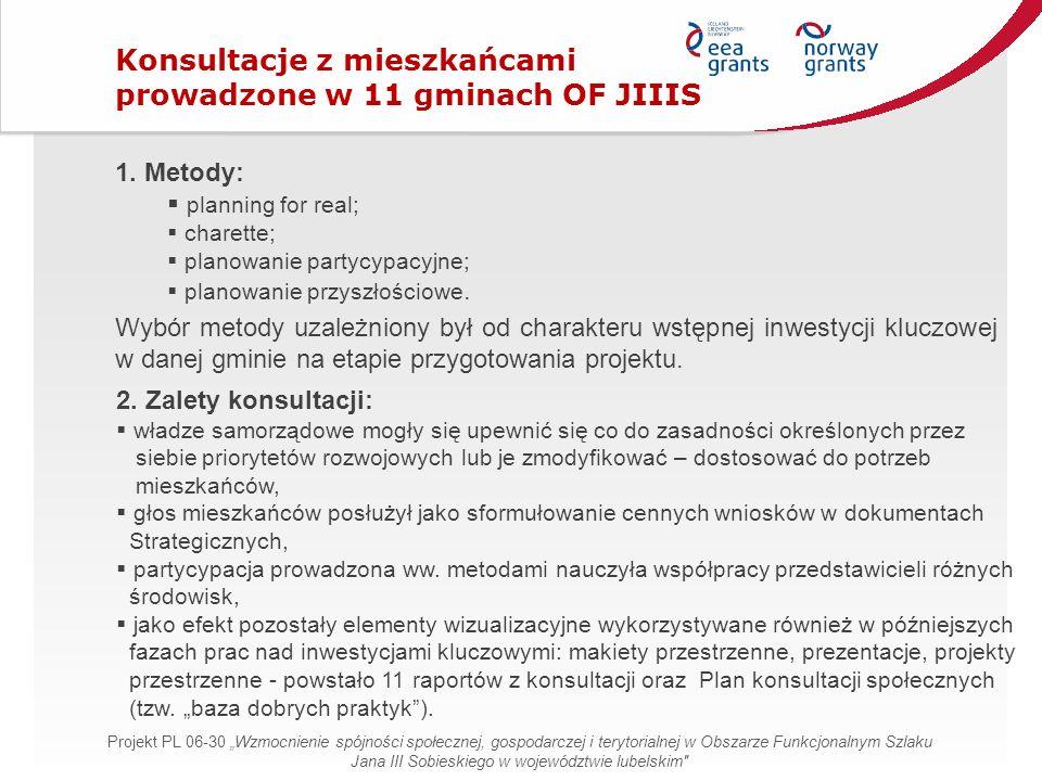 2. Zalety konsultacji:  władze samorządowe mogły się upewnić się co do zasadności określonych przez siebie priorytetów rozwojowych lub je zmodyfikowa