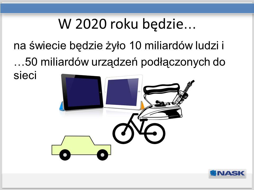 Tytuł prezentacji Podtytuł W 2020 roku będzie … na świecie będzie żyło 10 miliardów ludzi i …50 miliardów urządzeń podłączonych do sieci