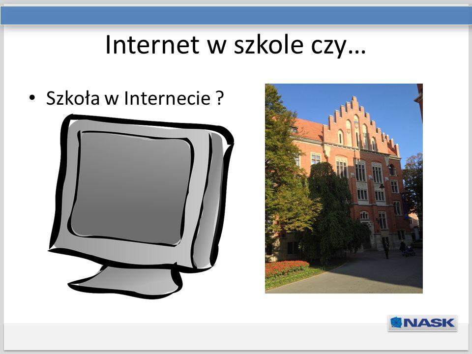 Tytuł prezentacji Podtytuł Internet w szkole czy… Szkoła w Internecie ?
