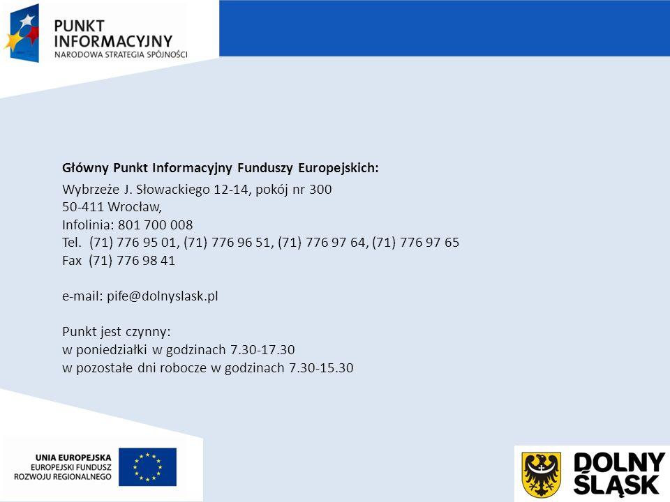 Główny Punkt Informacyjny Funduszy Europejskich: Wybrzeże J.