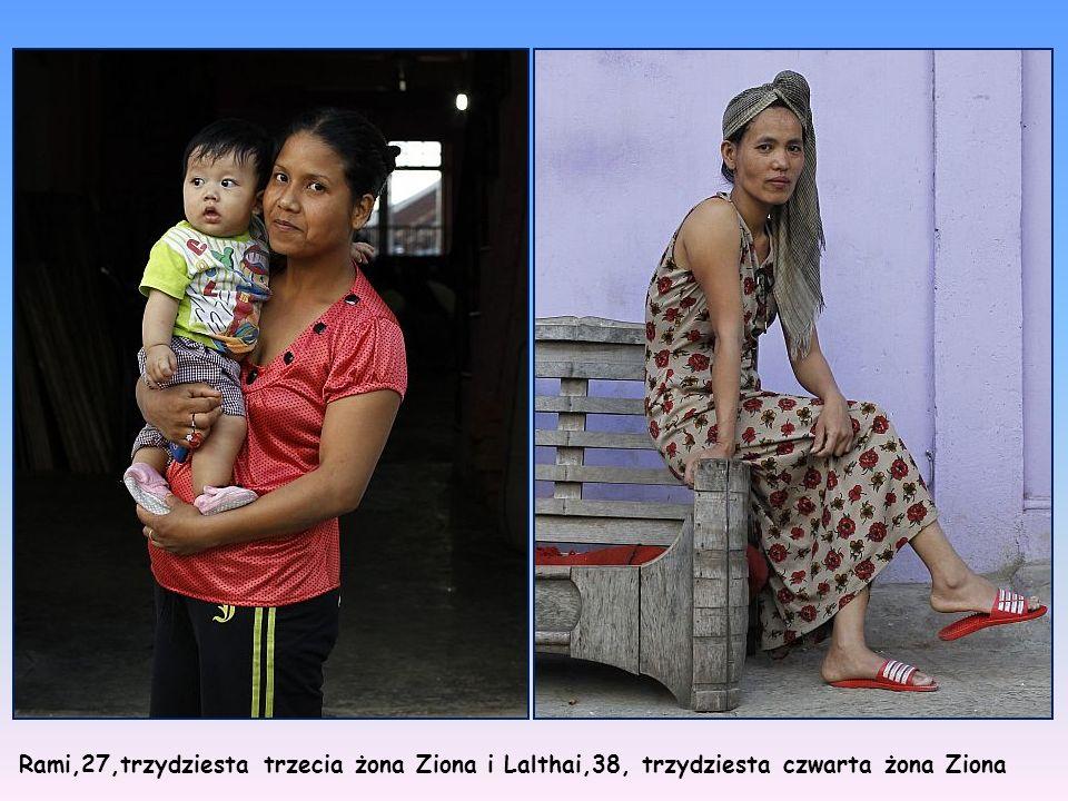 Changliani,60,dziewiąta żona Ziona Thangzeli, 40, czternasta żona Ziona