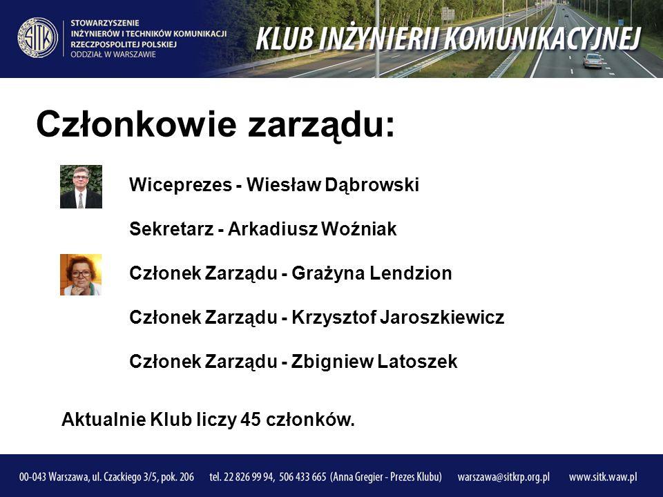 Członkowie zarządu: Wiceprezes - Wiesław Dąbrowski Sekretarz - Arkadiusz Woźniak Członek Zarządu - Grażyna Lendzion Członek Zarządu - Krzysztof Jaroszkiewicz Członek Zarządu - Zbigniew Latoszek Aktualnie Klub liczy 45 członków.