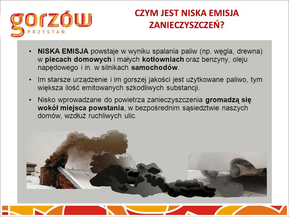 CZYM JEST NISKA EMISJA ZANIECZYSZCZEŃ? NISKA EMISJA powstaje w wyniku spalania paliw (np. węgla, drewna) w piecach domowych i małych kotłowniach oraz