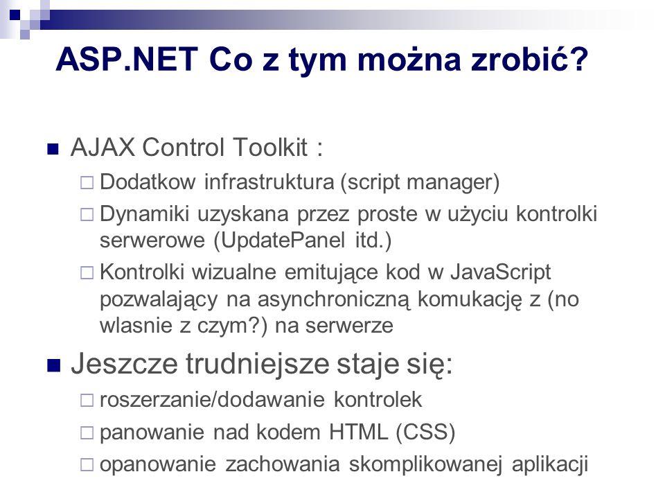 ASP.NET Co z tym można zrobić.