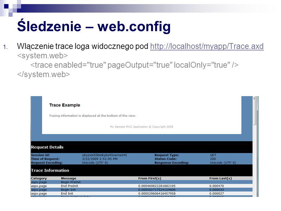 Śledzenie – web.config 1.