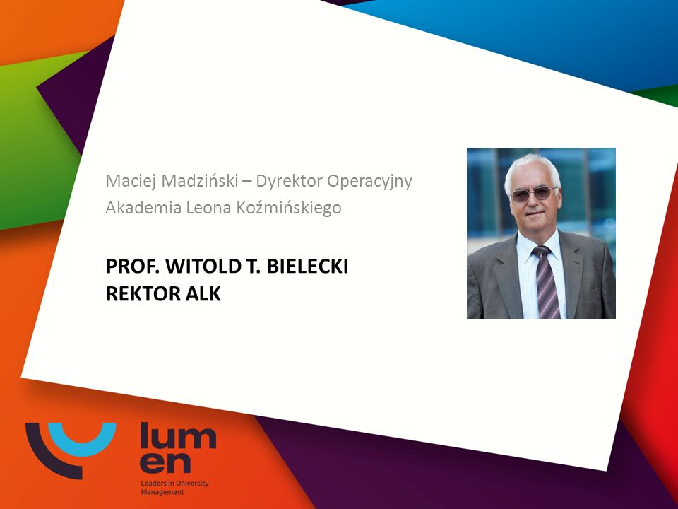 PROF. WITOLD T.
