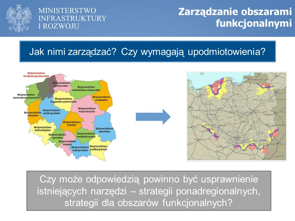 Zarządzanie obszarami funkcjonalnymi Jak nimi zarządzać.