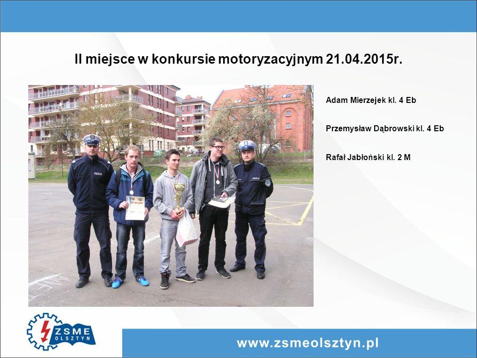 II miejsce w konkursie motoryzacyjnym 21.04.2015r.