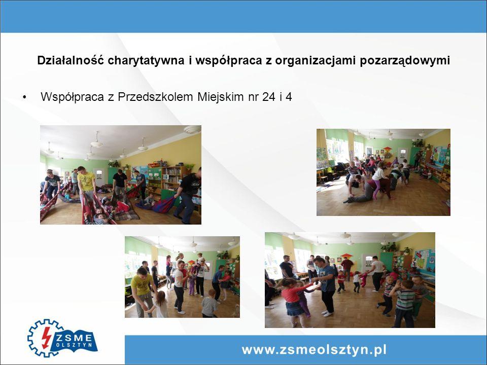 Działalność charytatywna i współpraca z organizacjami pozarządowymi Współpraca z Przedszkolem Miejskim nr 24 i 4