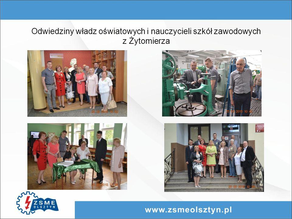 Odwiedziny władz oświatowych i nauczycieli szkół zawodowych z Żytomierza
