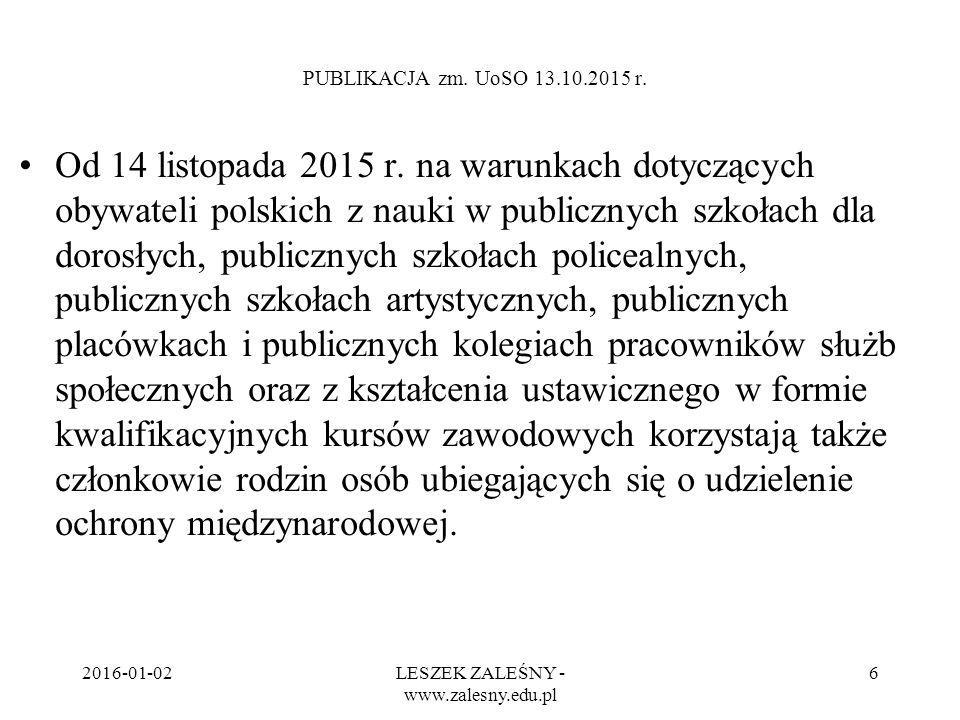 2016-01-02LESZEK ZALEŚNY - www.zalesny.edu.pl 7 PUBLIKACJA zm.
