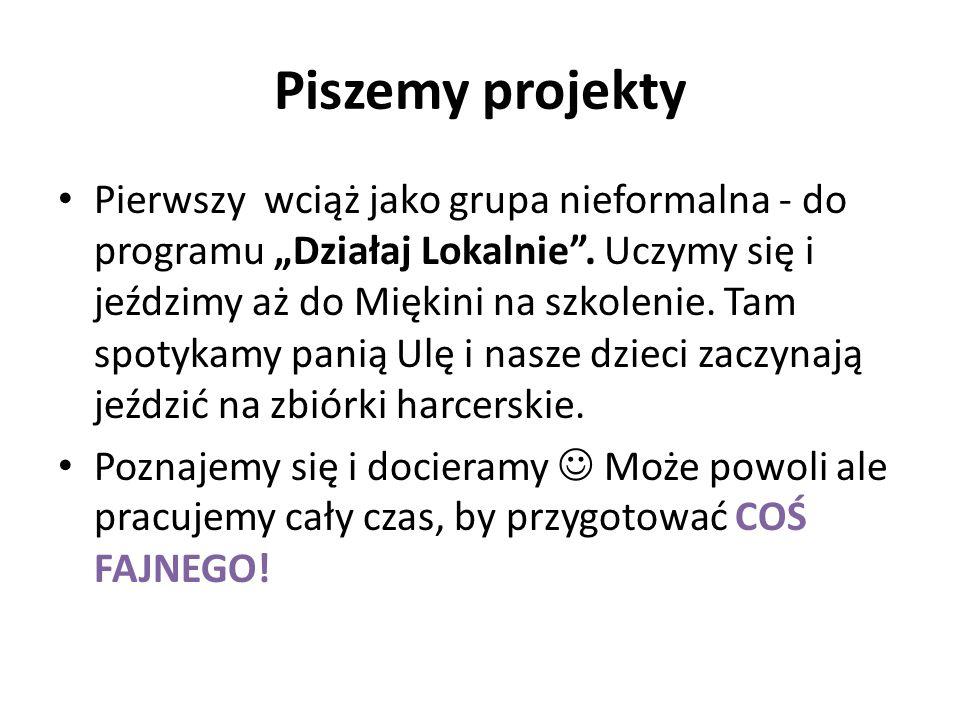 """Piszemy projekty Pierwszy wciąż jako grupa nieformalna - do programu """"Działaj Lokalnie ."""
