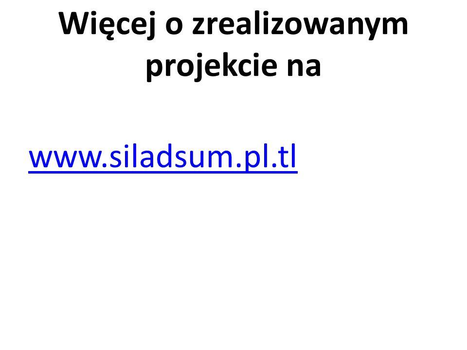 Więcej o zrealizowanym projekcie na www.siladsum.pl.tl