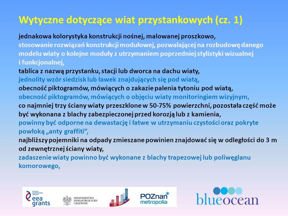 Wytyczne dotyczące wiat przystankowych (cz.