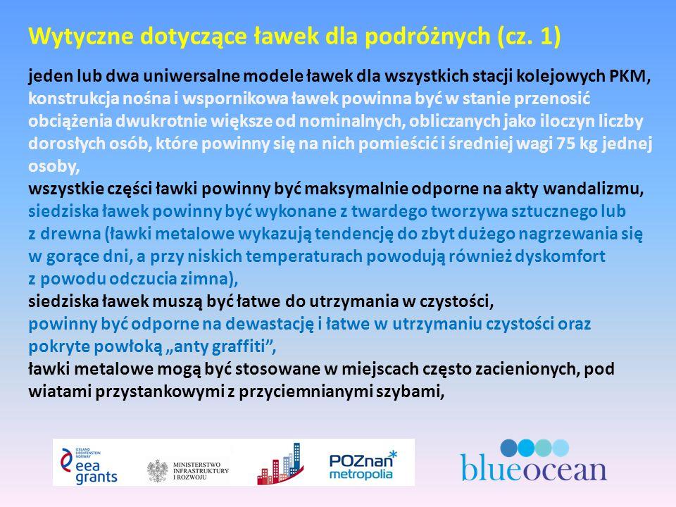 Wytyczne dotyczące ławek dla podróżnych (cz.